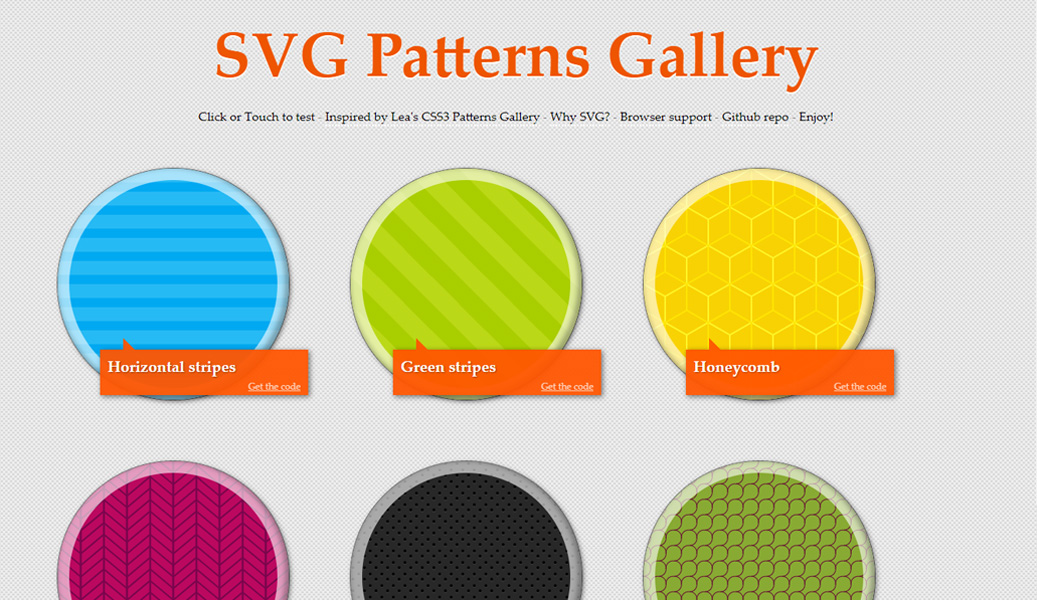 SVG Patterns Gallery website screenshot